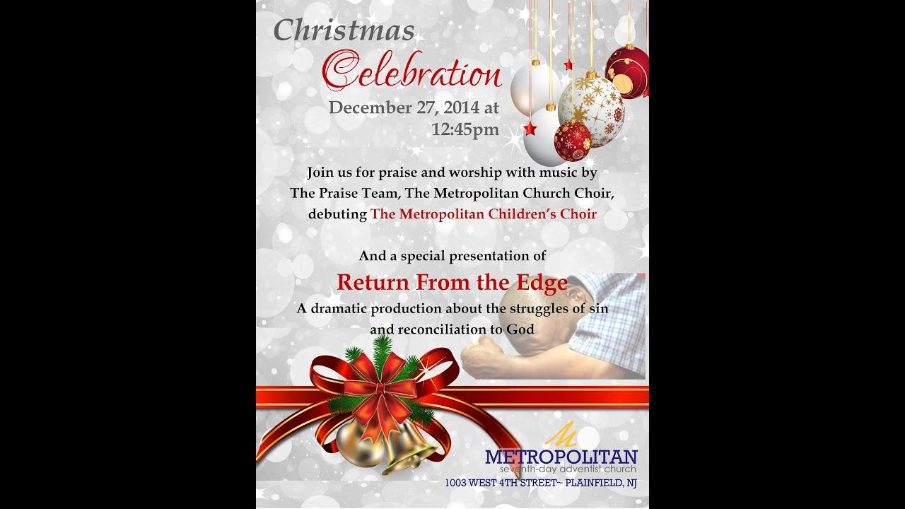 Do 7th Day Adventists Celebrate Christmas.Christmas Celebration At Metropolitan Sda Church Of Plainfield
