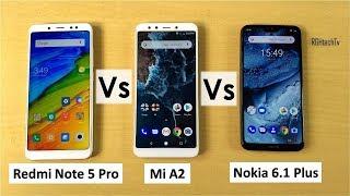 Redmi Note 5 Pro vs Mi A2 vs Nokia 6.1 Plus | Gaming, Camera, Battery, Sound, Design & Build