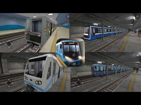 """Парад поездов метро в игре """"Subway Simulator 3D"""""""