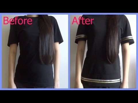 Do it yourself! DIY sports jersey inspired tshirt using ribbons! No sew!
