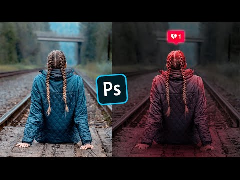 Adding Glowing Broken Love Instagram Photo Effect Photoshop Tutorial