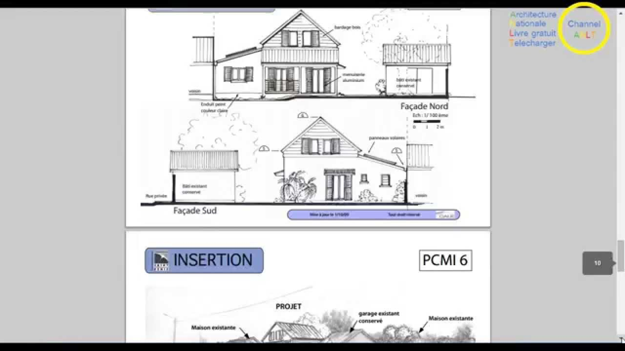 Un permis de construire en exemple pdf youtube for Surface permis de construire
