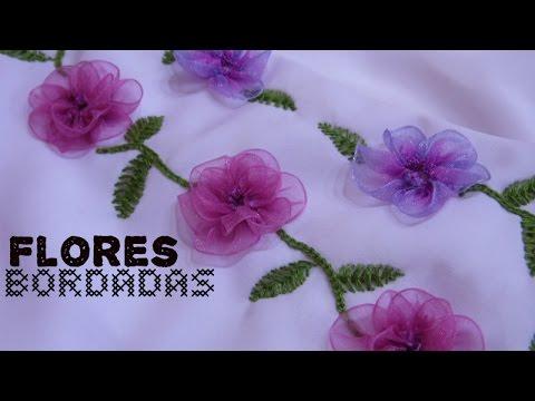 Flores Bordadas Con Liston Como Hacer Un Vestido Parte 2 Youtube