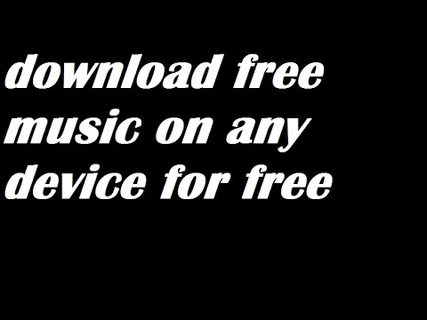 Download Free Music In any android Phone!!!!