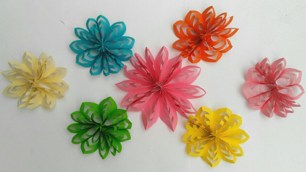 Flores en 3d de papel para decoracion manualidades diy - Manualidades para decoracion ...