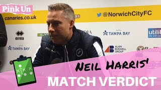 Norwich City 4 Millwall 3 ¦ Neil Harris reaction