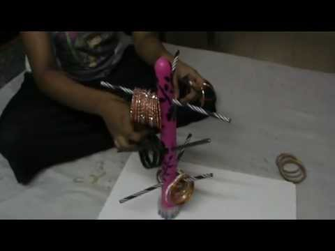 Nikshiptam how to make a bangle stand from waste youtube for Ideas for wealth out of waste items