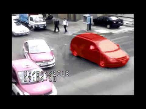 Video de camioneta que arrolla una motocicleta de policía. SSP