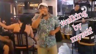 Walking by myself Garry More.  cover by Klik'n friends Bali.