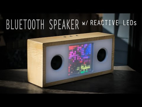 Bluetooth Speaker w/ Reactive LED Matrix || How to Build a Speaker || DIY