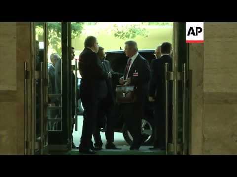 Arrivals for Syria talks led by UN envoy Brahimi