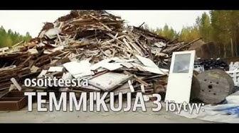 Metallin-, romuautojen- ja rakennusjätteiden kierrätyspaikka Mikkelin seudulla