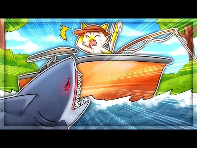 Catching The DEADLY SHARK in Cat Goes Fishing