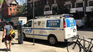 RARE CATCH OF THE NYPD VISION ZERO UNIT MAKING IT'S ROUNDS ON AMSTERDAM AVE. IN MANHATTAN, NYC.