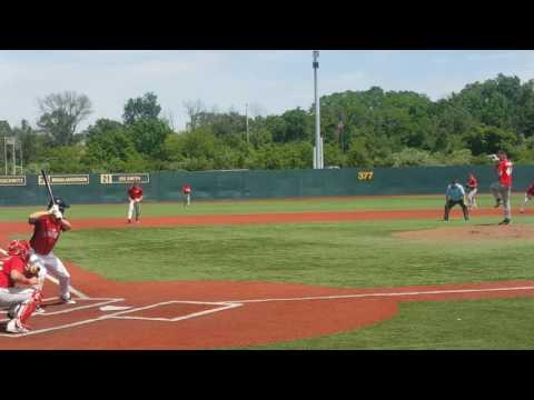 Matthew Dampf STL Prospects vs Cincinnati Baseball Club AB 1 - broken bat