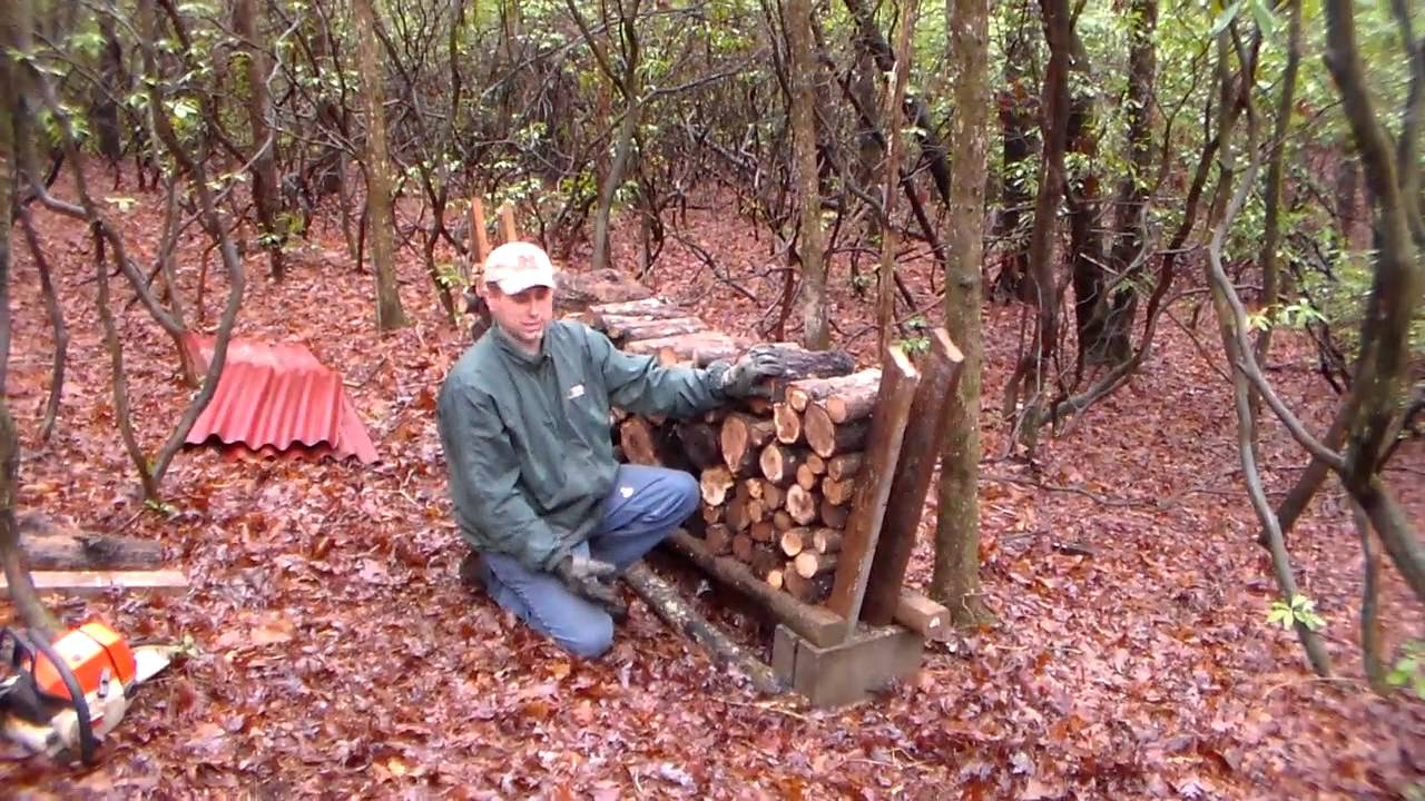 firewood stacking rack