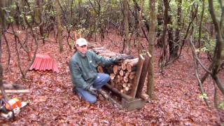 An Easy And Cheap Way To Stack Your Firewood.