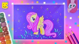 Как нарисовать пони ФЛАТТЕРШАЙ (Fluttershy) - урок рисования для детей лет, поэтапно