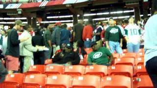 Jets fans celebrate beating Falcons on Monday night!