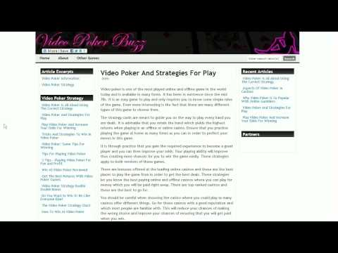 New Video Poker Strategy Articles Available