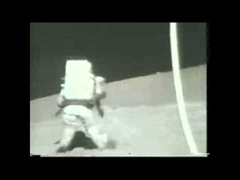 Apollo 17 Astronaut Falls on the Moon | Video