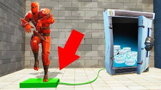 PRESS The PLATE To OPEN THE SAFE! (Fortnite *NEW* Minigame)