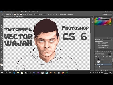Tutorial Photoshop:Cara Membuat Vector Wajah di Photoshop - Martin Garrix #Part 2