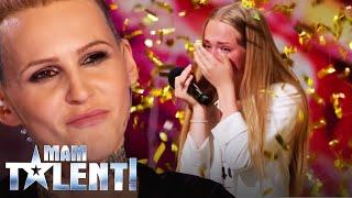 """""""Złoty przycisk"""" dla 15-letniej Mayi Thoma! Swoim głosem zachwyciła Agnieszkę Chylińską [Mam Talent]"""