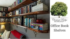 Office book shelves - How to build wall mounted shelves - woodworking