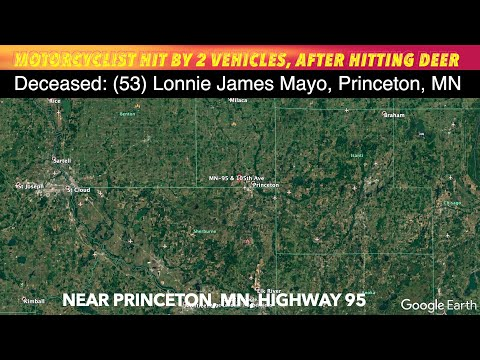 Motorcycle Driver Hits Deer, Then Struck By 2 Vehicles In Fatal Crash Near Princeton, Minnesota