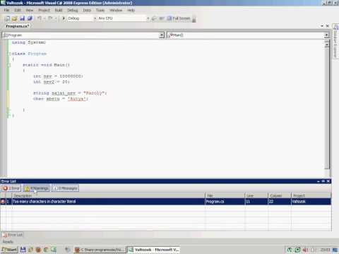 C# programozás 03 - Változók alapok