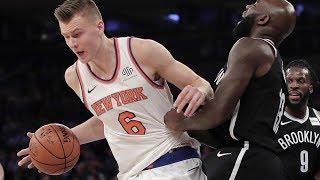 Knicks Get 1st Win! Kristaps Porzingis Mean Dunks! Nets vs Knicks 2017-18 Season
