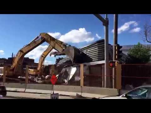 Edmonton Greyhound Station Demolition