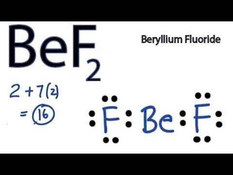 Lewis Dot Structure For Beryllium Be