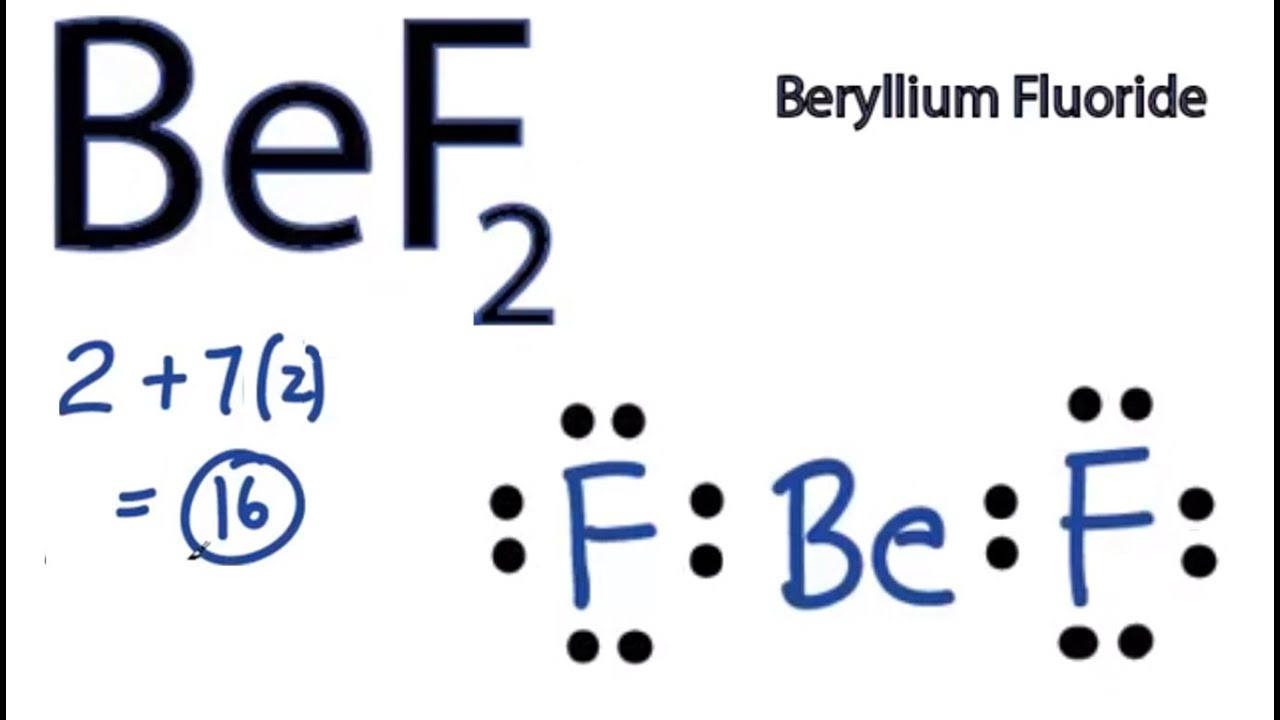 small resolution of bef2 lewis structure how to draw the lewis structure for bef2 youtube