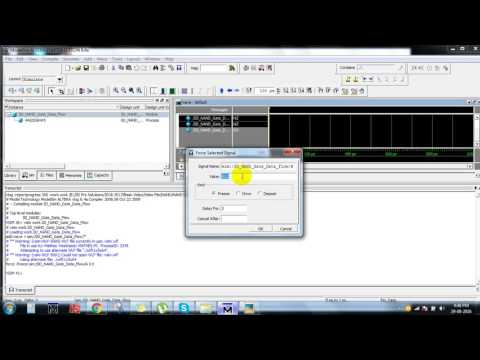 nand gate verilog coding using data flow modeling||ieee vhdl projects at bangalore