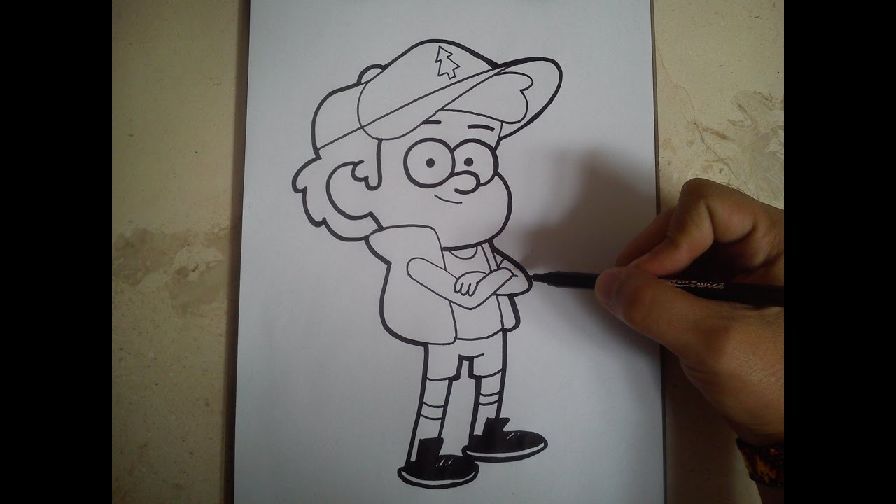 Dipper De Gravity Falls Para Colorear: GRAVITY FALLS / How To Draw Dipper