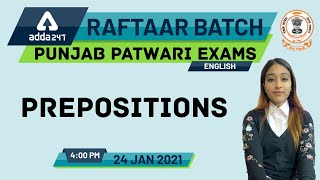 Preposition | English | Demo Class-6 | Punjab Patwari Batch | Adda247
