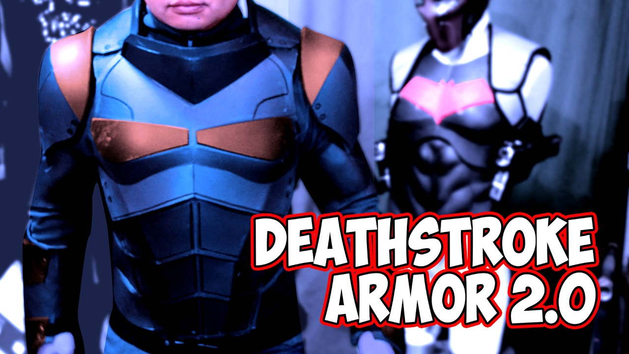 Deathstroke 2 0 justice league body armor youtube for Deathstroke armor template