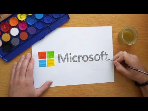 How To Draw The Microsoft Logo (Logo Drawing)