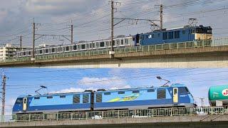 武蔵野線貨物列車 EF64総武横須賀E253系配給ほか ブルサン901・1号機など5機も続々通過 2020年9月
