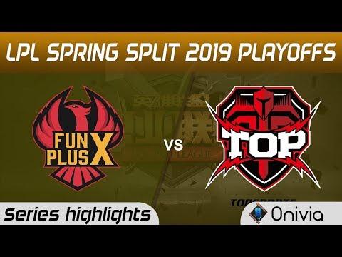 FPX Vs TOP Highlights All Games LPL Spring 2019 Playoffs FunPlus Phoenix Vs TopSports Gaming LPL Hig