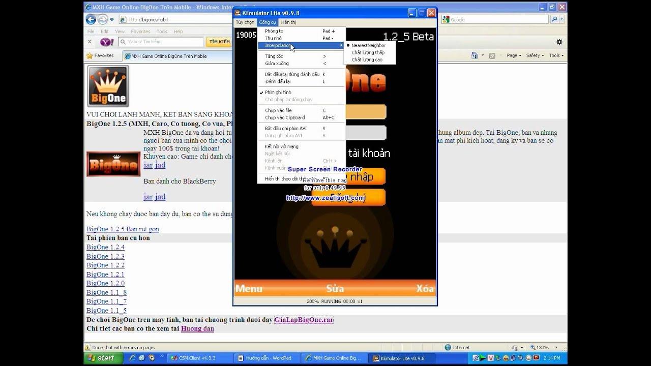 Hướng dẫn chơi BigOne trên PC & LapTop