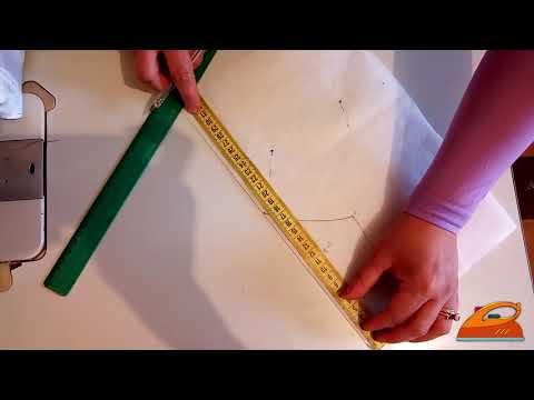 رسم موديل صدر على الفيزلين بالمقاييس وكيفية الخياطة عليه