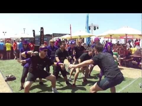 The biz-events Haka at the Dubai Hercules Trophy 2013