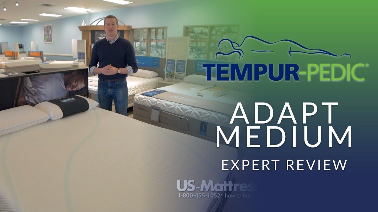 tempurpedic adapt medium mattress expert review youtube