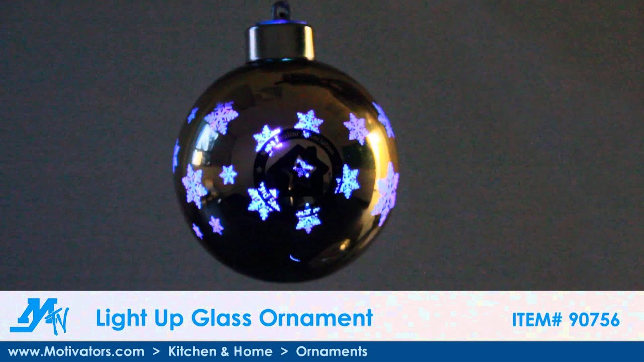 light up glass ornament youtube