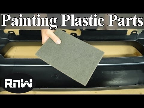 How to Paint Plastic Car Parts - Raw or Primed Bumper Cover