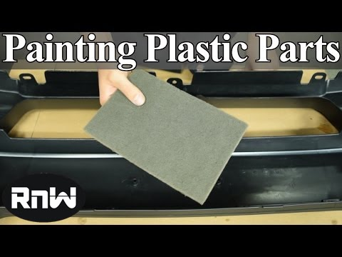 How To Paint Plastic Car Parts Raw Or Primed Bumper Cover Youtube