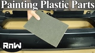 how to paint plastic car parts raw or primed bumper cover. Black Bedroom Furniture Sets. Home Design Ideas